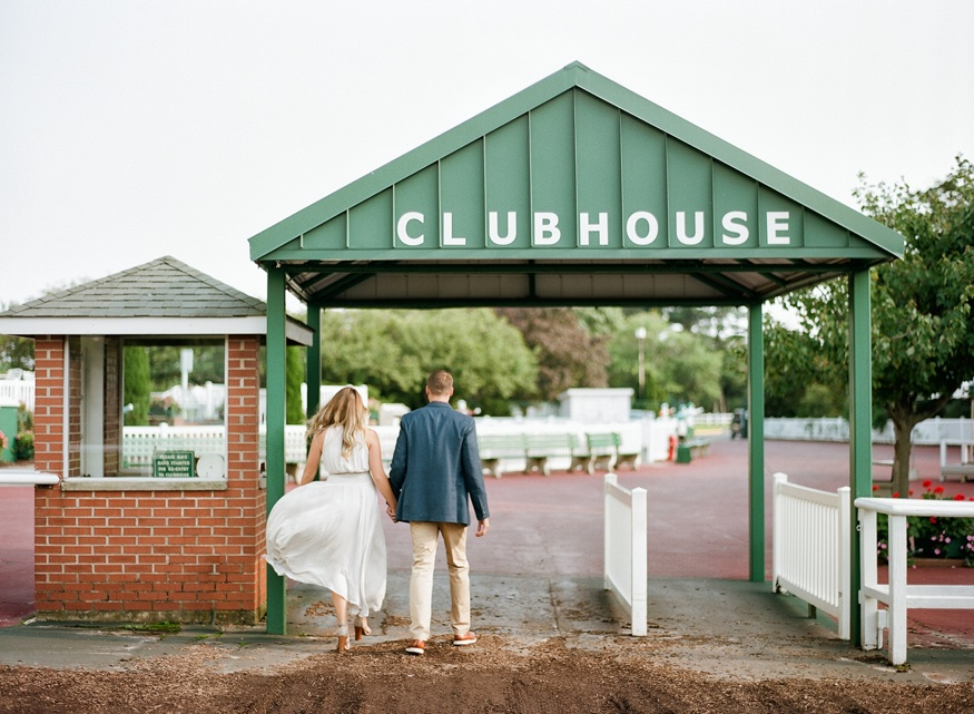 Monmouth Park engagement session.