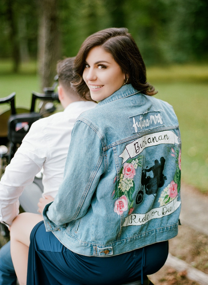 Medford motorcycle engagement session.