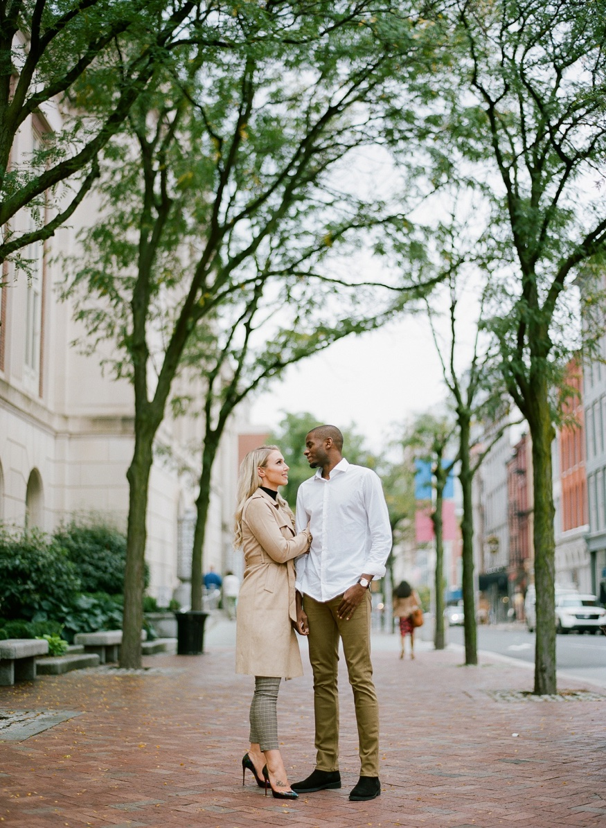 Old City Philadelphia engagement session.