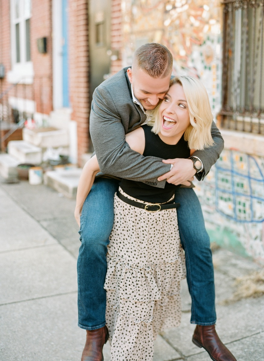 Philadelphia Magic Gardens engagement session.