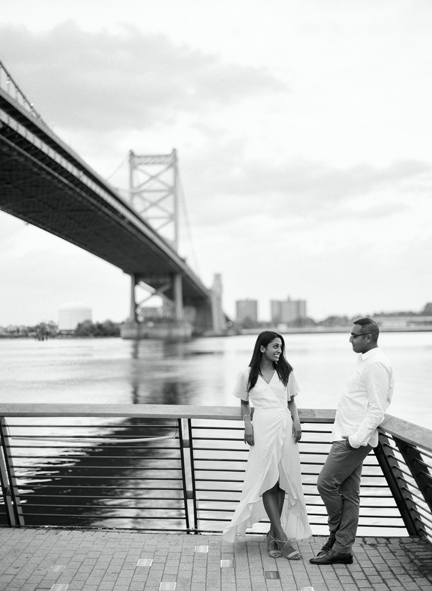 Philadelphia Race Street Pier engagement session.