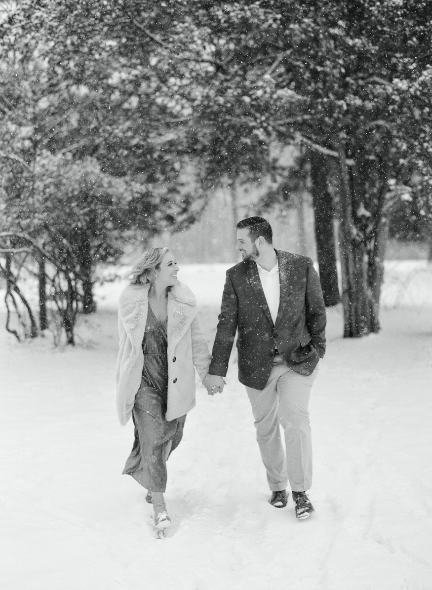 South Jersey snow engagement session.