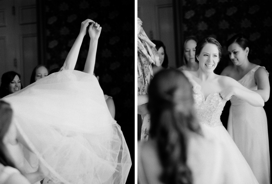 Bride getting ready at Union League Philadelphia wedding.