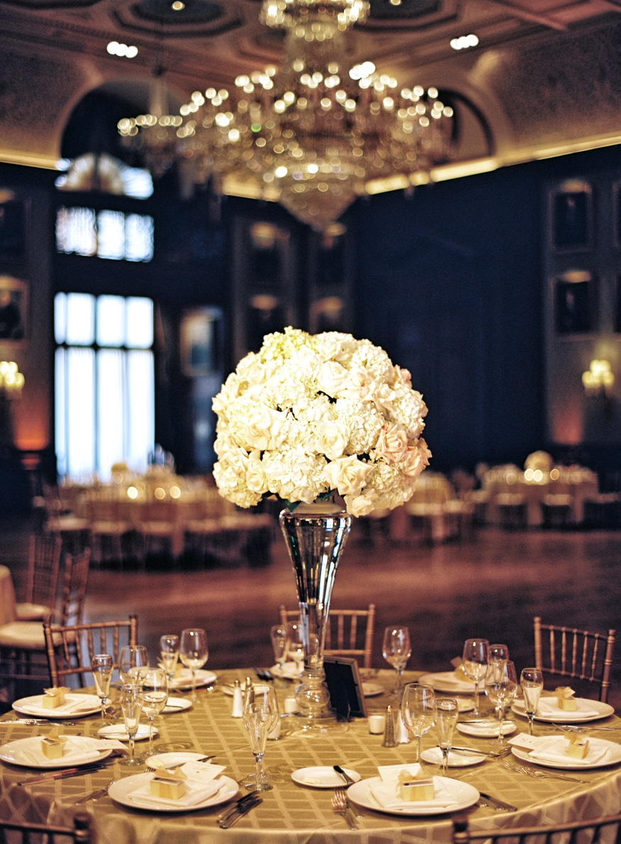 Union League Philadelphia wedding reception details.