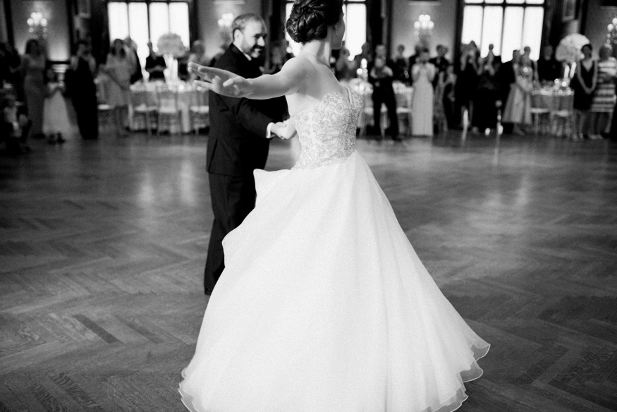 First Dance at Union League Philadelphia summer wedding.
