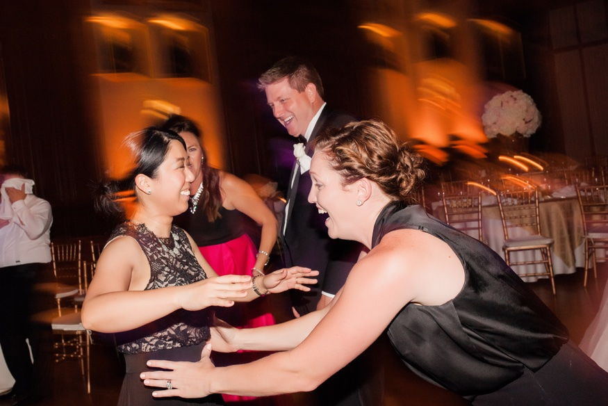 Guests dancing at Union League Philadelphia wedding reception.