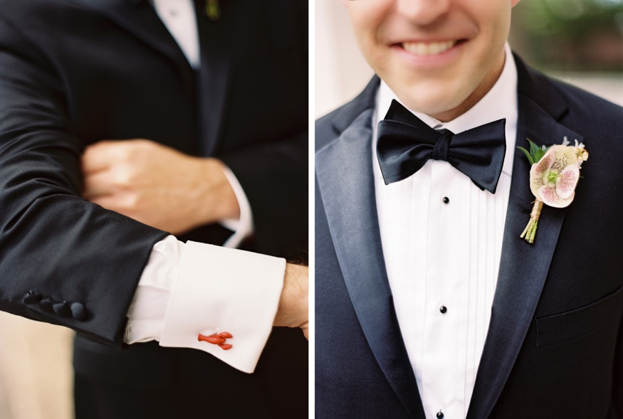 Groom's boutonniere and cutlinks.