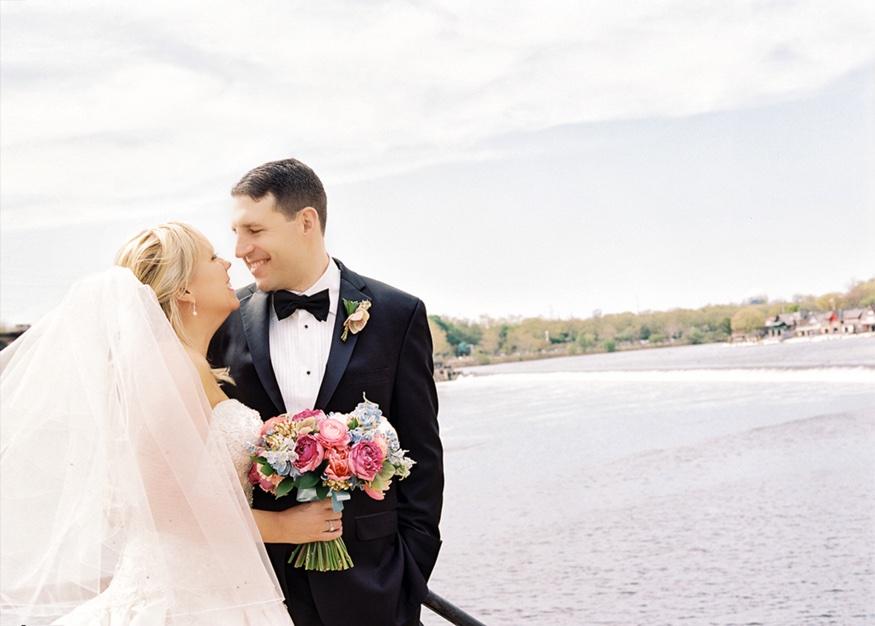 Bride and Groom at Waterworks in Philadelphia.