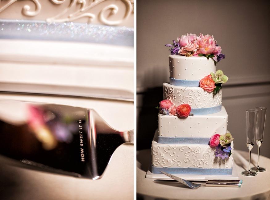 Wedding cake at Olde Bar Philadelphia wedding.