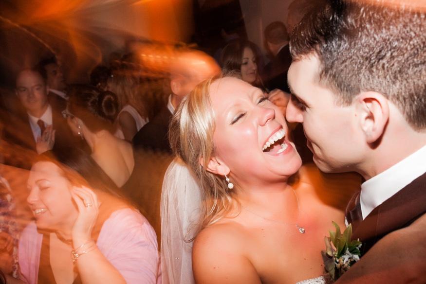 Dancing at Olde Bar Philadelphia wedding reception.
