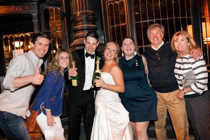 Photobomb at Olde Bar Philadelphia wedding.