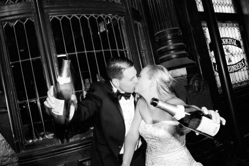 Champagne at Olde Bar wedding philadelphia