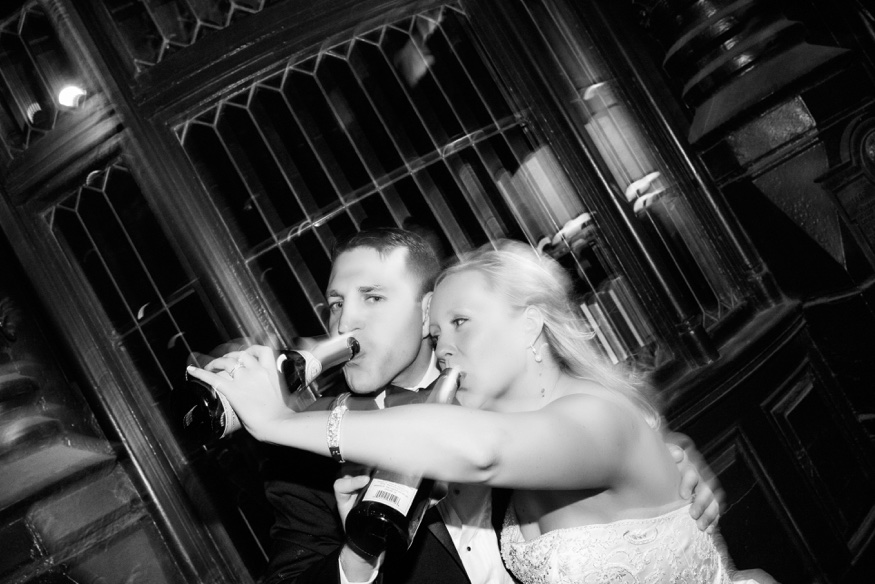 Champagne at Olde Bar Philadelphia wedding.