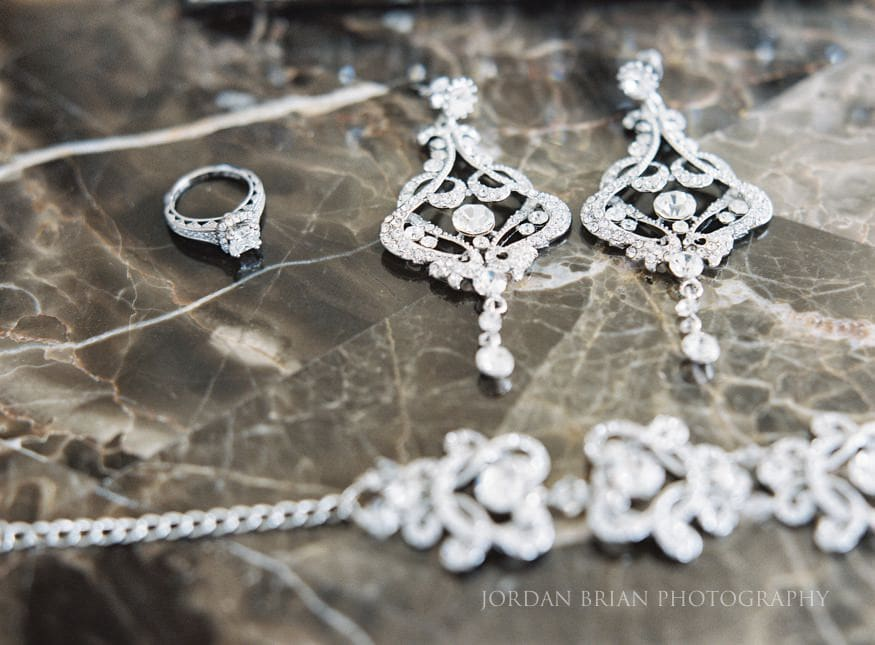 Bride's jewelry for Ballroom at the Ben wedding
