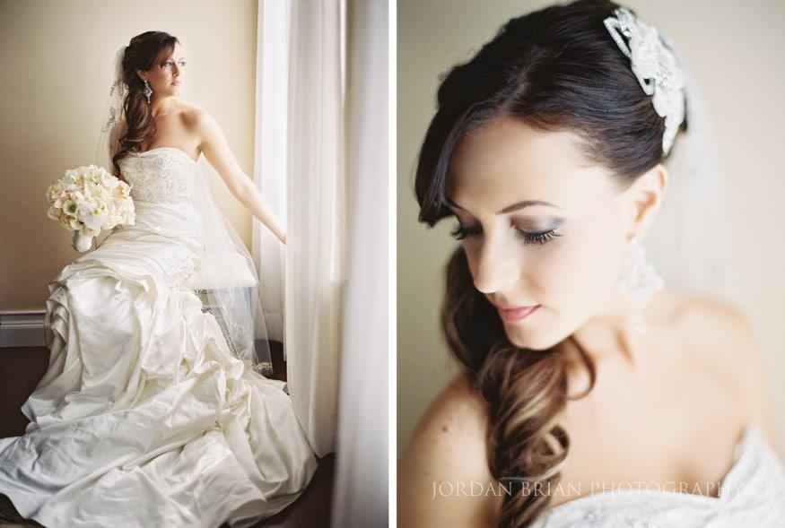 Bride potrait in home