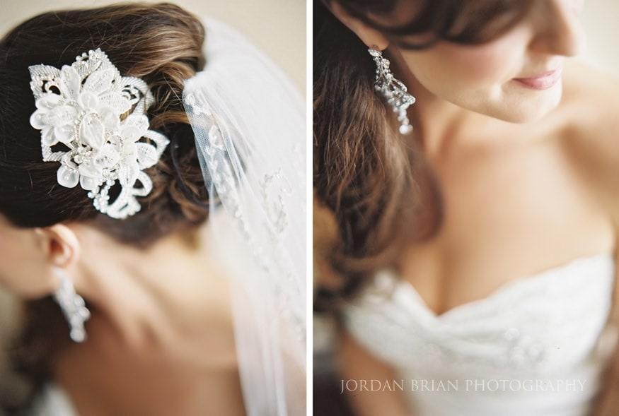 Close up bride portrait photo