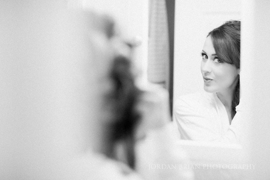 Bridal hair preps for wedding
