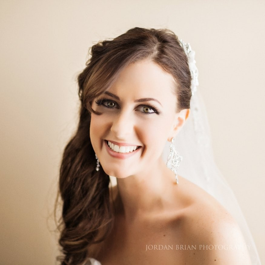 Bride headshot photo before wedding