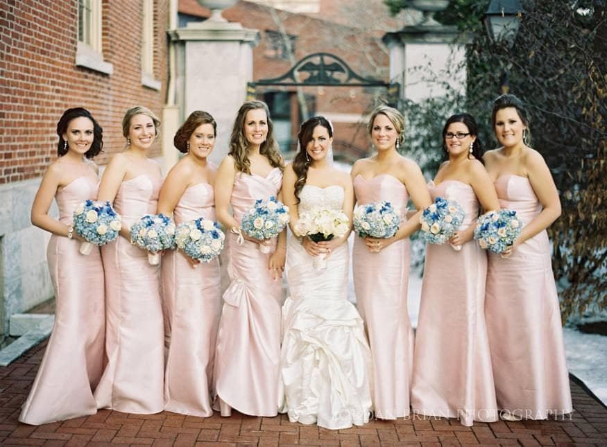 bridesmaids photo at first bank of the united states Philadelphia