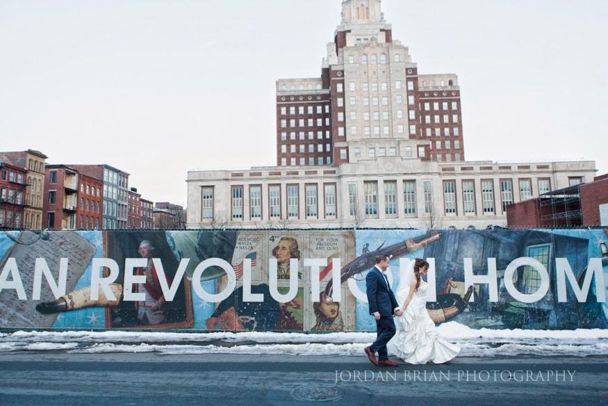 bride and groom photo in philadelphia.