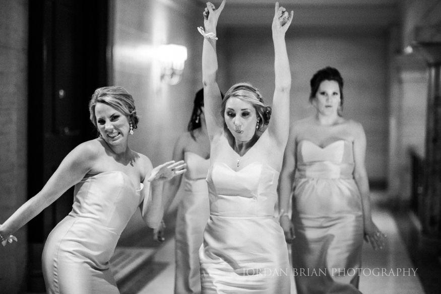 Bridesmaids in hallway at ballroom at the ben wedding