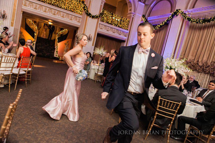 Bridal party entrance ballroom at the ben wedding