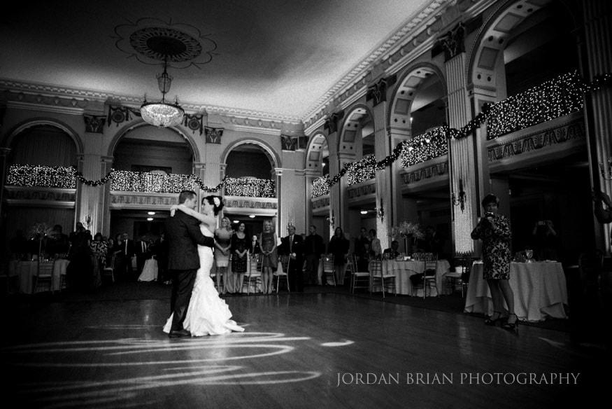 First dance at Ballroom at the ben Philadelphia wedding