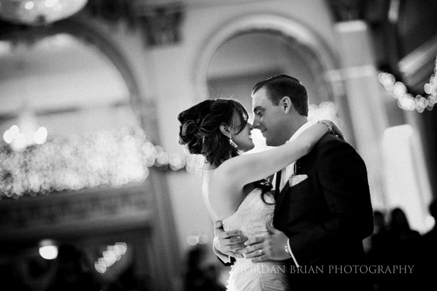 First dance at Ballroom at the ben reception