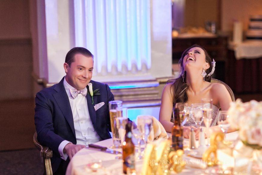 Best man's toast at Ballroom at the ben wedding