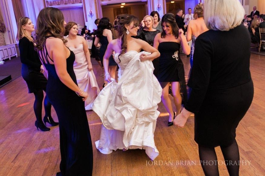 Bride dancing at at Ballroom at the Ben
