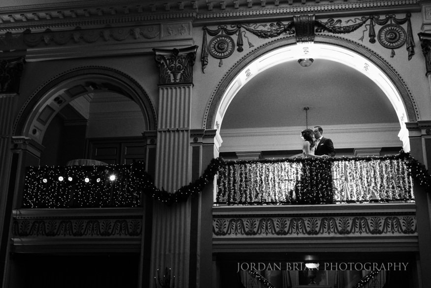 Couple on balcony at Ballroom at the Ben