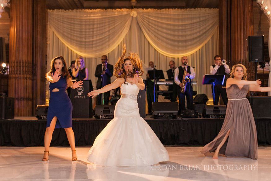 Bride Dancing During Wedding Reception At Crystal Tea Room