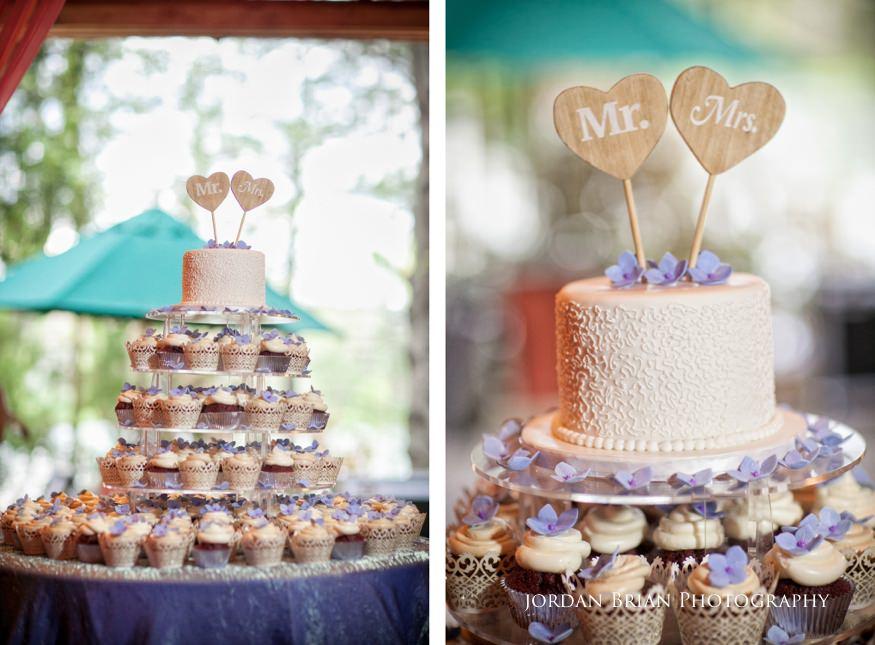 wedding cake details at rat's restaurant at grounds for sculpture spring wedding