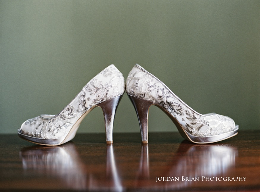bridal shoes at grounds for sculpture wedding