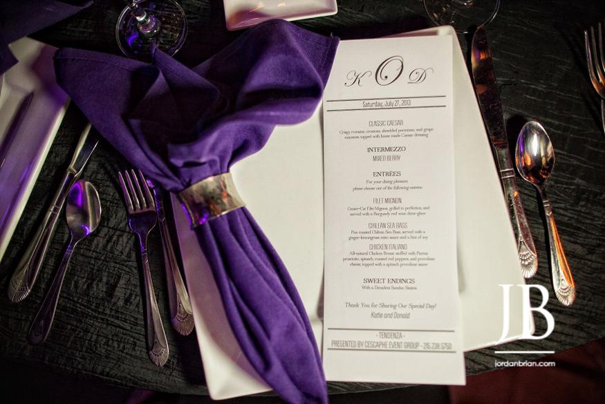 Tendenza plates and menu, philadelphia wedding, jordan brian photography