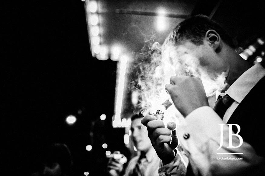 Modern Tendenza wedding reception cigars, philadelphia wedding, jordan brian photography