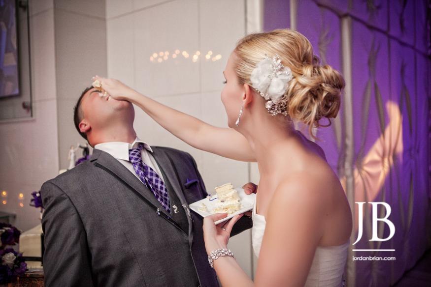 Modern Tendenza wedding reception cake smash, philadelphia wedding, jordan brian photography