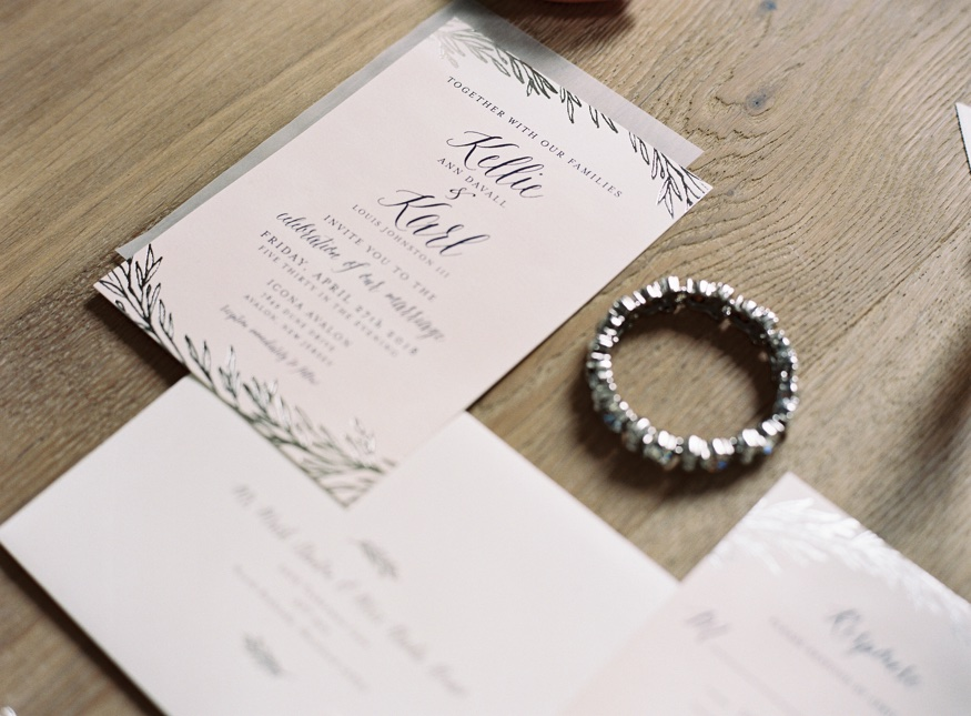 Wedding invitations by Minted at Icona Avalon wedding.