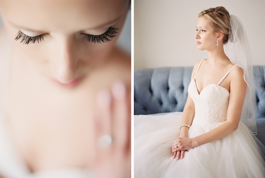Bride's portraits at summer wedding at Icona Avalon.