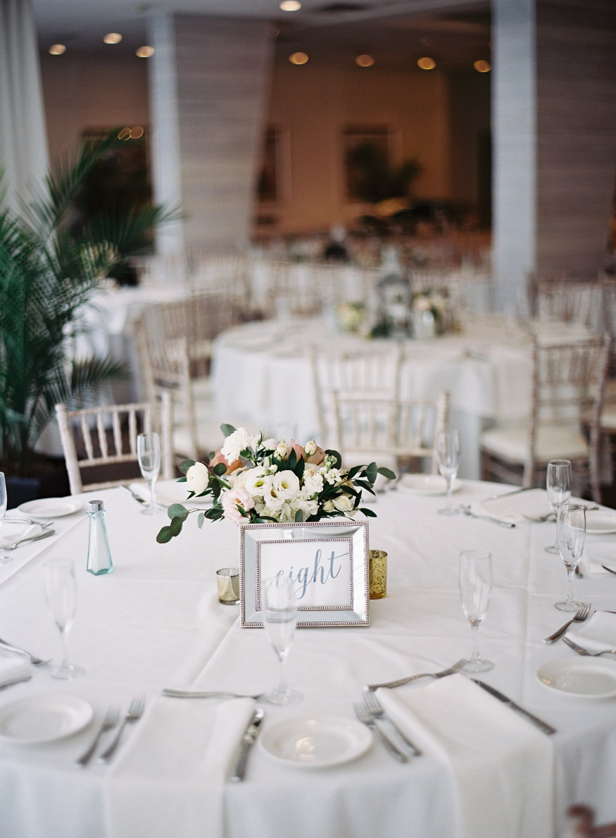Centerpieces by Angela Nicole Design at Icona Avalon wedding.