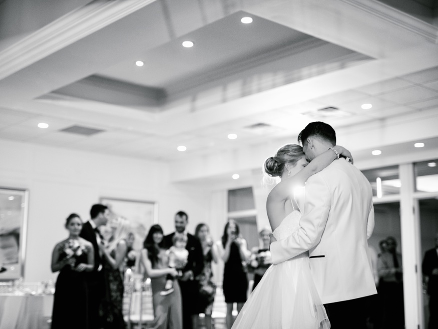 Bride and Groom first dance at Icona Avalon wedding reception.