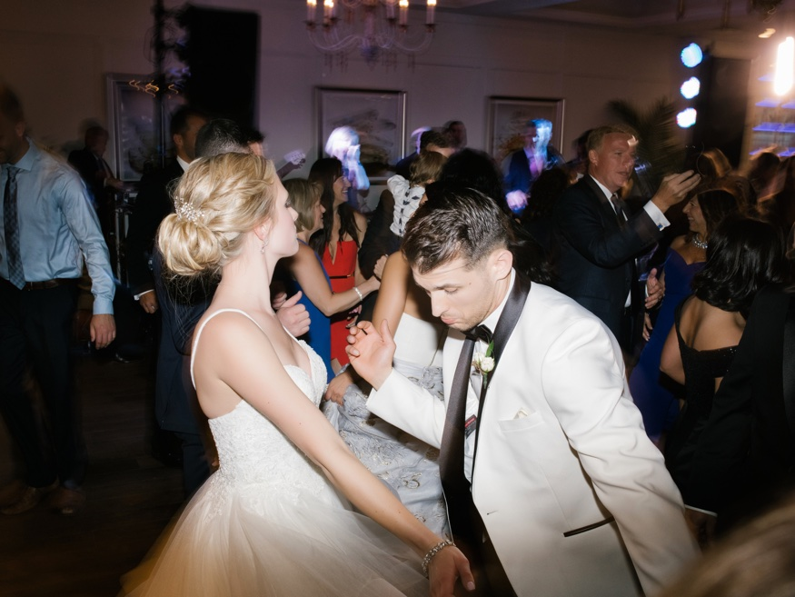 Dancing during the reception at Icona Avalon wedding.