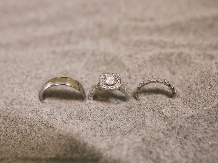 Wedding rings at Icona Avalon wedding.