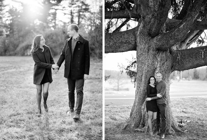 Princeton Battlefield engagement session.