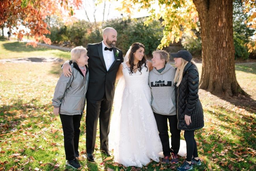 Wedding photobomb at Philadelphia Art Museum.