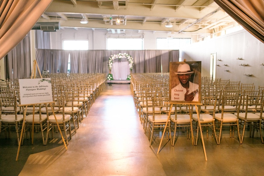 Wedding ceremony at Moulin Philadelphia wedding.