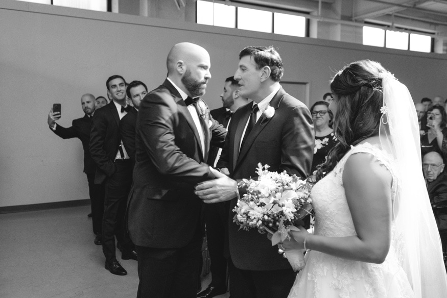 Wedding ceremony at Moulin by Brulee Catering.