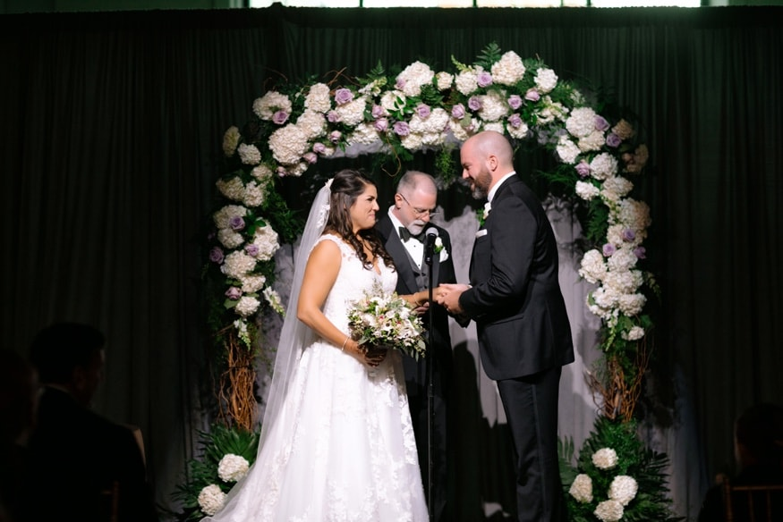 Moulin by Brulee Catering indoor wedding ceremony.