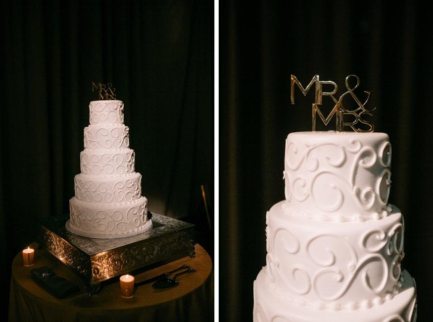 Wedding cake by Isgro Bakery in Philadelphia.