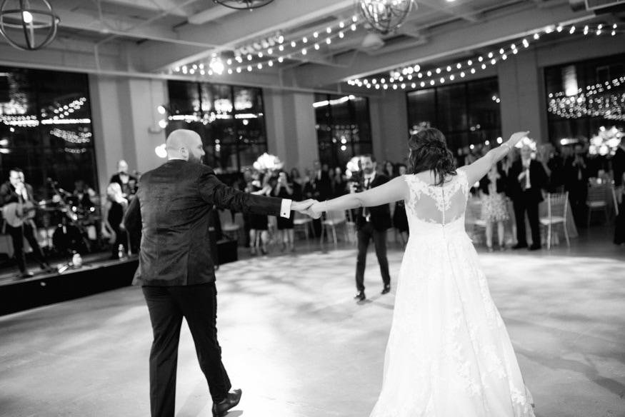 Bride & Groom first dance at Moulin Philadelphia wedding reception.